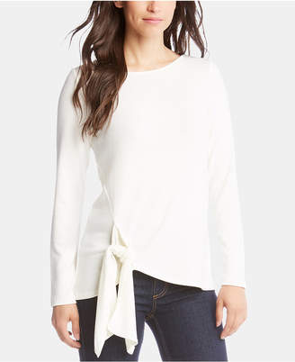 Karen Kane Tie-Front Long-Sleeve Sweater