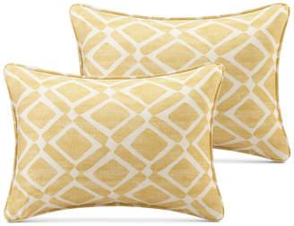 "Madison Park Delray Diamond-Print 14"" x 20"" Pair of Oblong Decorative Pillows"