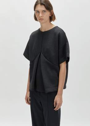 MM6 MAISON MARGIELA Double Face Sweat Top Anthracite