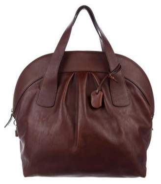 Marni Grained Leather Frame Bag Brown Grained Leather Frame Bag