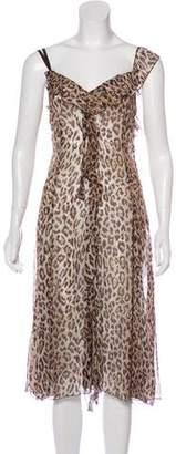 Dolce & Gabbana Silk Leopard Print Dress