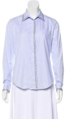 Viktor & Rolf Striped Button-Up Top