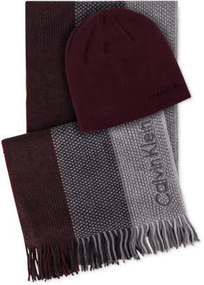 08337ae4927 Calvin Klein Men Hat   Ombre Scarf Set