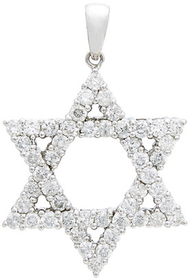 Diana M Fine Jewelry 18K 1.72 Ct. Tw. Diamond Star Of David Pendant