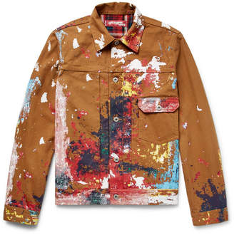Junya Watanabe + Levi's Slim-Fit Paint-Splattered Cotton-Canvas Trucker Jacket
