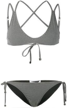 Prism Patmos micro houndstooth bikini set