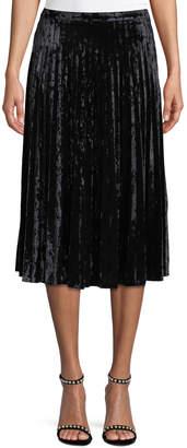 Glamorous Pleated Crushed-Velvet Skirt