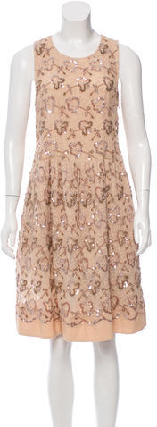 RED ValentinoRed Valentino Sequin-Embellished Lace Dress