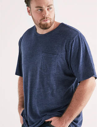Lucky Brand Big and Tall Linen Pocket Crew Tee
