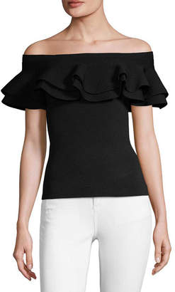 John & Jenn John + Jenn Farrah Ruffle Off-The-Shoulder Top