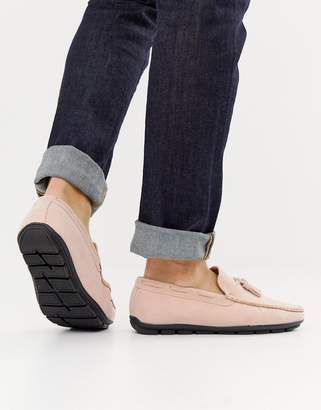 Brave Soul tassel loafers in pink