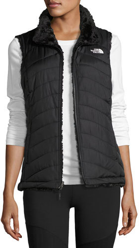 The North FaceThe North Face Mossbud Swirl Fleece & Taffeta Reversible Vest, Black