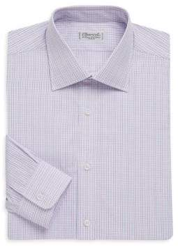 Charvet Regular-Fit Plaid Cotton Dress Shirt