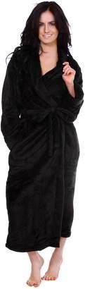 Simplicity Women Men Universal Plush Kimono Robe Bathrobe with Tie Closure