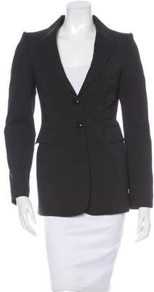 Burberry Long Sleeve Fitted Blazer