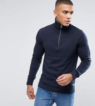 Jack and Jones Originals Knitted Sweater With Half Zip Neck