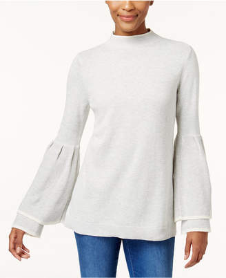 Style&Co. Style & Co Petite Ruffled Bell-Sleeve Sweater, Created for Macy's