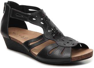 Women's Hayden Wedge Sandal -Black $90 thestylecure.com
