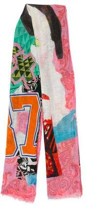 Christian Lacroix Linen Printed Scarf w/ Tags