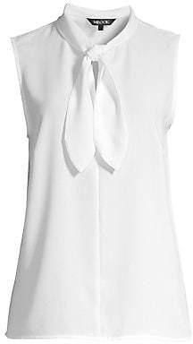 Misook Women's Loop & Tie Sleeveless Blouse