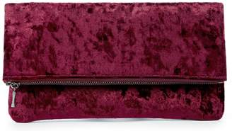 Sole Society Women's Zen Velvet Foldover Clutch Berry Vegan Leather Velvet From