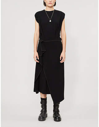 Y's Ys Draped asymmetric-hem woven dress