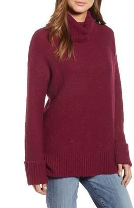 Caslon Roll Neck Cotton Wool Blend Sweater (Regular & Petite)