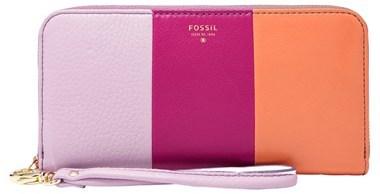 Fossil 'Sydney' Colorblock Zip Clutch Wallet