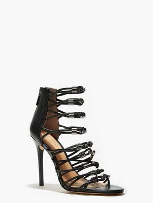 Halston Ania Leather High Heel Sandal