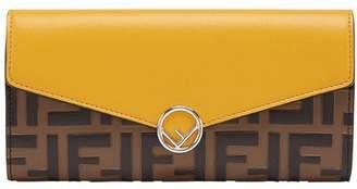 Fendi colourblock continental wallet