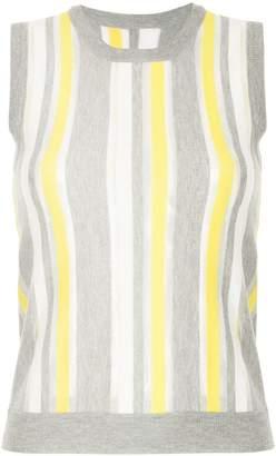 GUILD PRIME colour-block sleeveless sweater