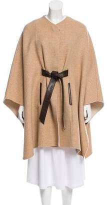 Loro Piana Leather-Trimmed Cashmere Cape