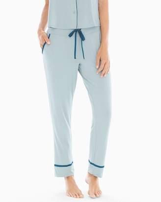 Cool Nights Satin Trim Ankle Pajama Pants Slated