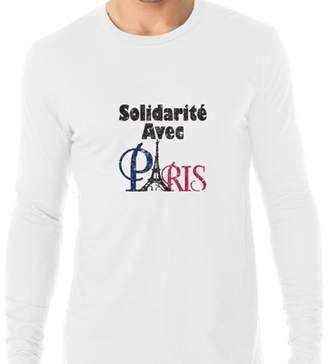 Hollywood Thread Solidarite Avec Paris Pray for Paris Peach Support Men's Long Sleeve T-Shirt