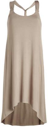 Heidi Klein Lisbon Twist Back Tapered Halter Dress
