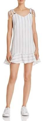 Rails Diana Ruffle-Hem Striped Dress