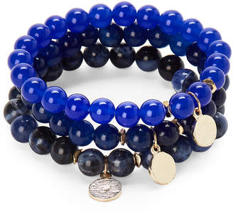 Panacea Pannee By Navy Stretch Agate Bracelet