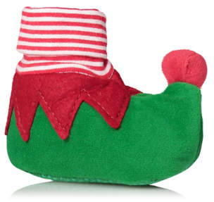 George Green Elf Pop-On Christmas Shoes