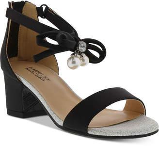 Badgley Mischka Badly Mischka Little & Big Girls Pernia Faux Pearl Bow Sandals
