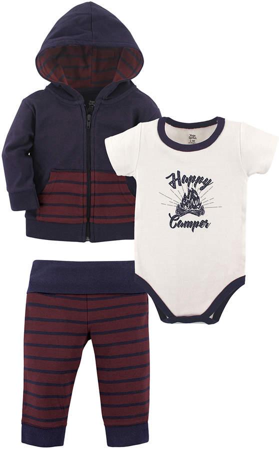 Maroon & Navy Hoodie Set - Infant