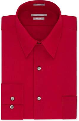 Van Heusen Men Fitted Poplin Dress Shirt