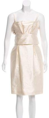 Christian Dior Silk And Wool-Blend Dress