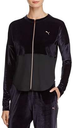 Puma Velvet-Detail Jacket