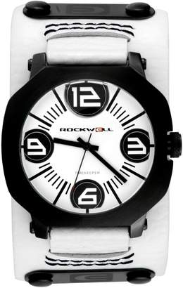 Rockwell Men's AS104 Men Assassin Black-Plated Stainless Steel Case and Leather Band Watch