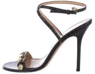 DSQUARED2 Leather Embossed Sandals