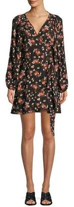 A.L.C. Carlo Floral Silk Wrap Dress