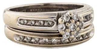 14K Diamond Wedding Ring Set