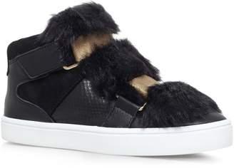 Kurt Geiger Carvela Lovely Faux Fur Sneakers