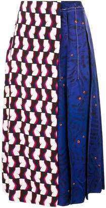 Marni printed pleated midi skirt