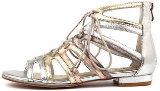 Django & Juliette New Odessa Metallic Multi Womens Shoes Dress